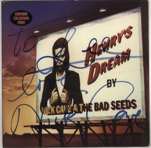 Nick Cave Henry's Dream - Complete - Autographed vinyl LP album (LP record) UK NCVLPHE710346