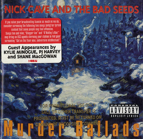 Nick Cave Murder Ballads - gold promo stamped CD album (CDLP) US NCVCDMU484315