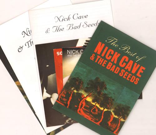 Nick Cave Quantity of Newsletters, Postcards & Poster memorabilia UK NCVMMQU638409