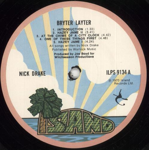Nick Drake Bryter Layter - 2nd - EX vinyl LP album (LP record) UK N-DLPBR729372