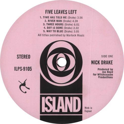 Nick Drake Five Leaves Left - 1st vinyl LP album (LP record) UK N-DLPFI433922