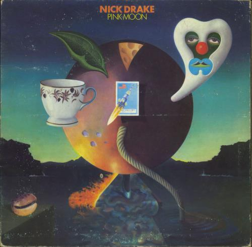 Nick Drake Pink Moon - 1st vinyl LP album (LP record) UK N-DLPPI586887