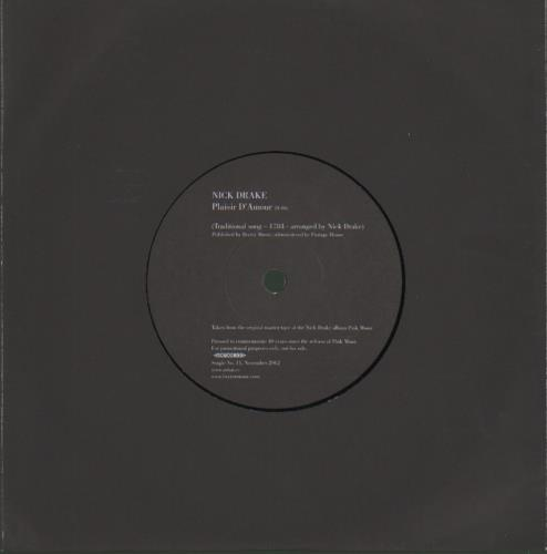 "Nick Drake Plaisir D'Amour 7"" vinyl single (7 inch record) UK N-D07PL679688"
