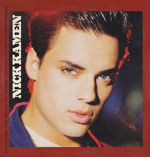 "Nick Kamen Each Time You Break My Heart 12"" vinyl single (12 inch record / Maxi-single) US KAM12EA68204"