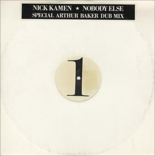 "Nick Kamen Nobody Else 12"" vinyl single (12 inch record / Maxi-single) UK KAM12NO391332"