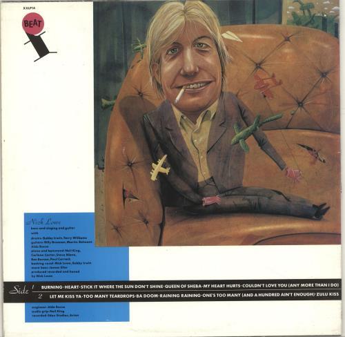 Nick Lowe Nick The Knife vinyl LP album (LP record) UK LOWLPNI692568