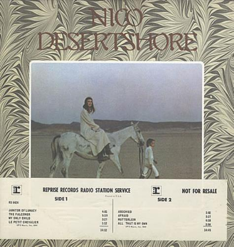 Nico Desertshore vinyl LP album (LP record) US N-CLPDE382581