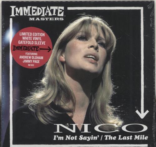 """Nico I'm Not Sayin' - RSD18 - White Vinyl - Sealed 7"""" vinyl single (7 inch record) UK N-C07IM694813"""