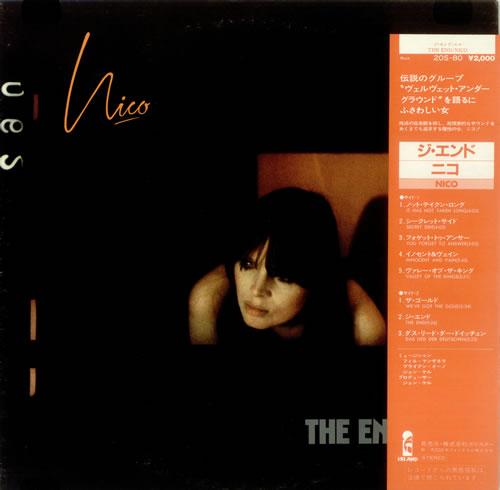 Nico The End vinyl LP album (LP record) Japanese N-CLPTH444418