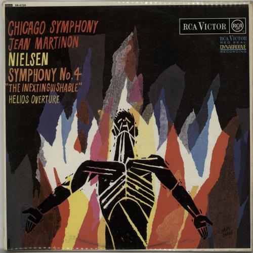 "Nielsen Symphony No. 4 ""The Inextinguishable""/ Helios Overture vinyl LP album (LP record) UK NC8LPSY647558"