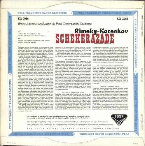 Nikolai Rimsky-Korsakov Scheherazade - ED1 - WBg vinyl LP album (LP record) UK RN7LPSC724197