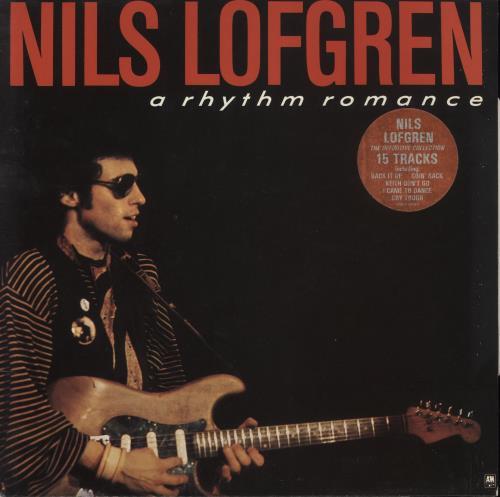 Nils Lofgren A Rhythm Romance - Gold Promo Stamped vinyl LP album (LP record) UK NLSLPAR742636