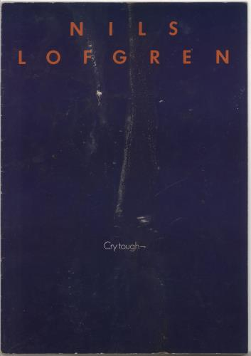 Nils Lofgren Cry Tough tour programme UK NLSTRCR345651