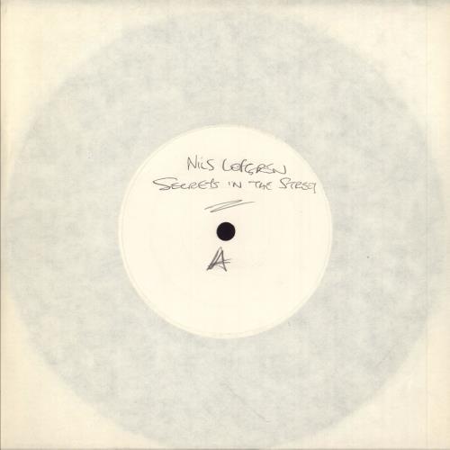 "Nils Lofgren Secrets In The Street - White Label 7"" vinyl single (7 inch record) UK NLS07SE749133"