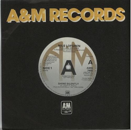"Nils Lofgren Shine Silently - A-Label 7"" vinyl single (7 inch record) UK NLS07SH635878"