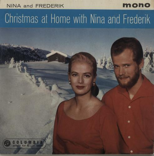 "Nina & Frederik Christmas At Home With Nina And Frederick EP 7"" vinyl single (7 inch record) UK N&F07CH682487"