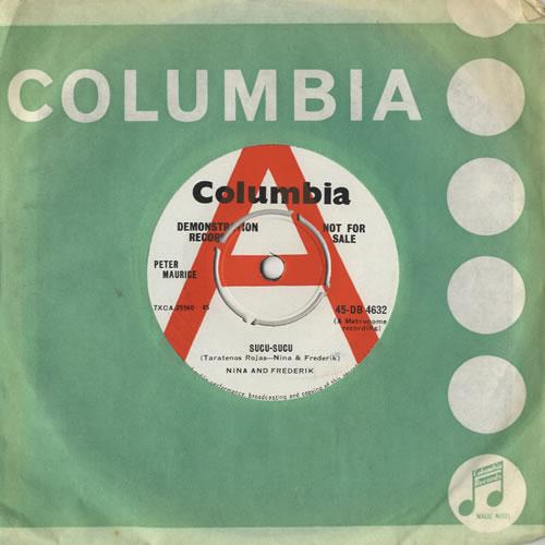 "Nina & Frederik Sucu-Sucu 7"" vinyl single (7 inch record) UK N&F07SU469056"