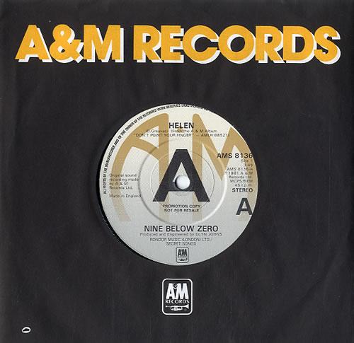 """Nine Below Zero Helen 7"""" vinyl single (7 inch record) UK NBZ07HE590053"""