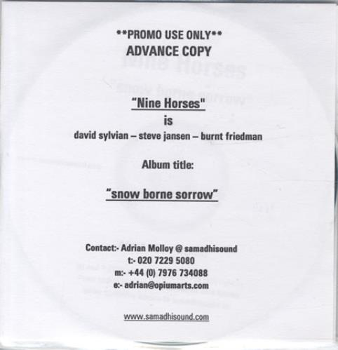 Nine Horses Snow Borne Sorrow CD-R acetate UK NHECRSN344416
