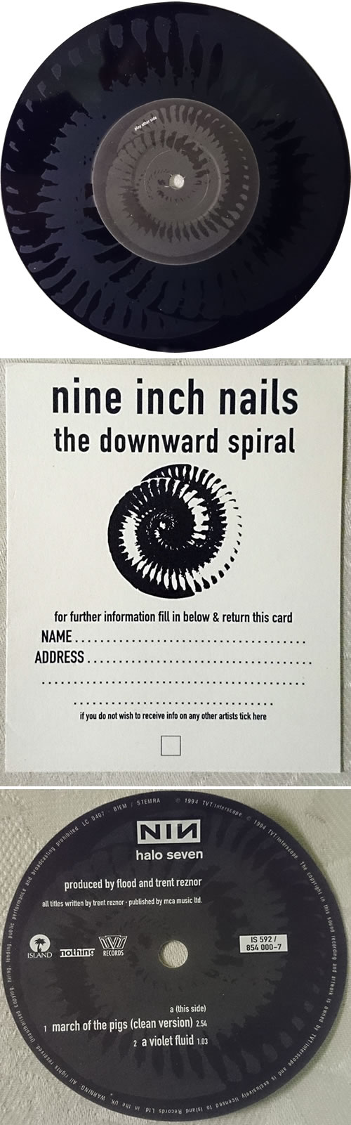 Nine Inch Nails March Of The Pigs - No 0001 UK 7\