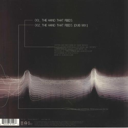 "Nine Inch Nails The Hand That Feeds 9"" vinyl single (9"" record) UK NIN09TH323243"