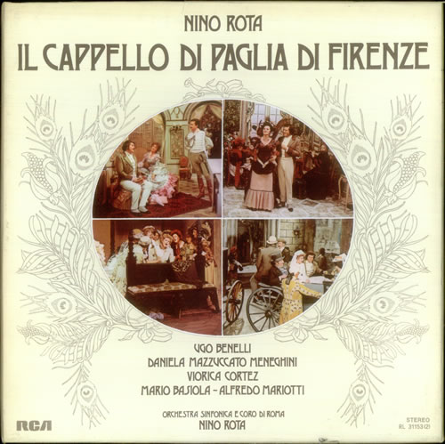 NINO ROTA Il Cappello di Paglia di Firenze (1975 UK RCA red seal label  stereo vinyl LP box set. Performed by Viorica Cortez f32cc731d9d3