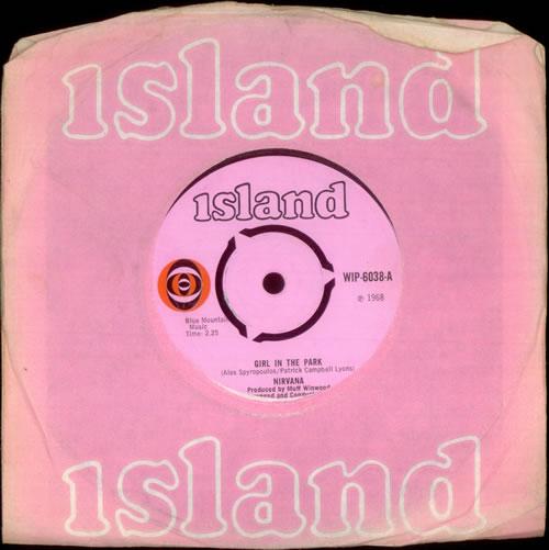 """Nirvana (UK) Girl In The Park 7"""" vinyl single (7 inch record) UK NRV07GI540986"""