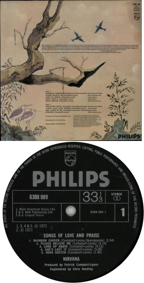 Nirvana (UK) Songs Of Love And Praise - 1st vinyl LP album (LP record) UK NRVLPSO601505