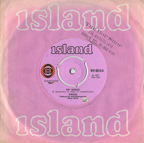 "Nirvana (UK) Tiny Goddess 7"" vinyl single (7 inch record) UK NRV07TI441284"