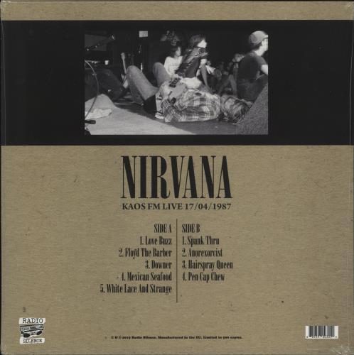 Nirvana (US) KAOS FM Live 17/04/1987 vinyl LP album (LP record) UK NIRLPKA773895