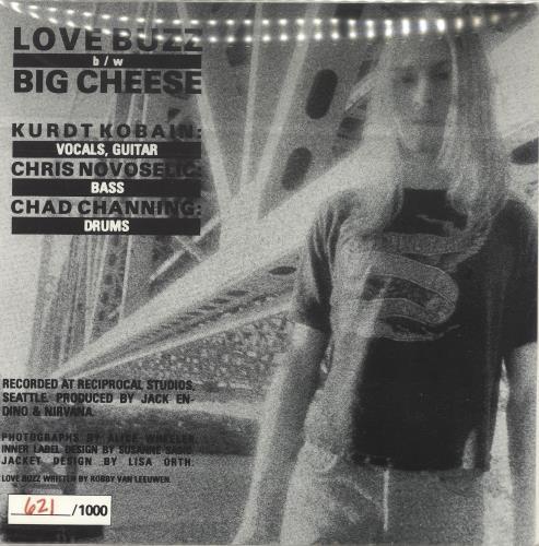 "Nirvana (US) Love Buzz - Original Issue 7"" vinyl single (7 inch record) US NIR07LO10820"