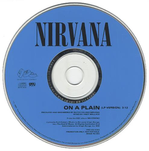 "Nirvana (US) On A Plain CD single (CD5 / 5"") US NIRC5ON05060"
