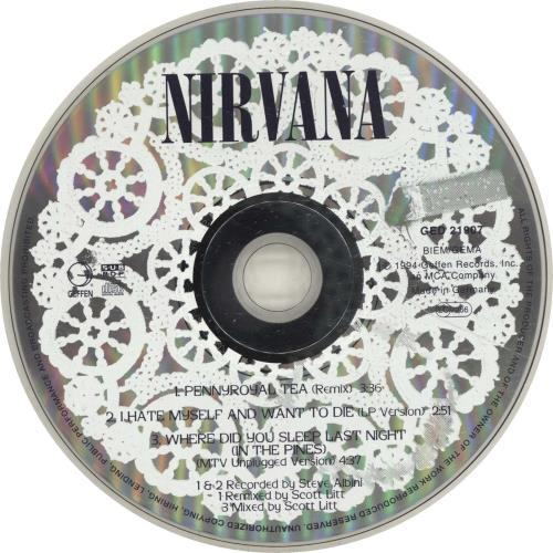 "Nirvana (US) Pennyroyal Tea - Withdrawn CD single (CD5 / 5"") German NIRC5PE27043"