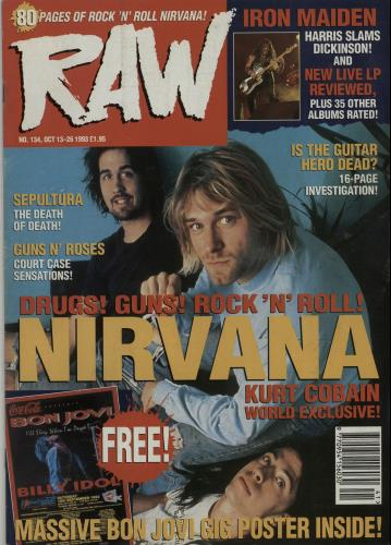 Nirvana (US) Raw No.134 magazine UK NIRMARA653716