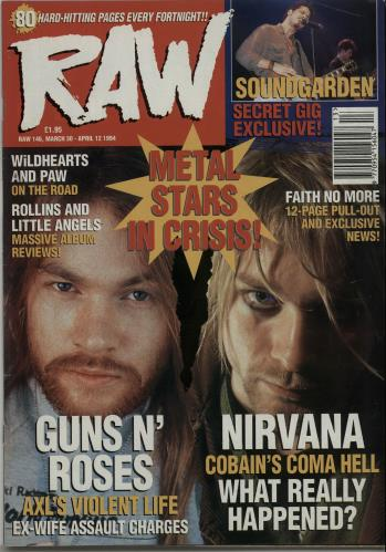 Nirvana (US) Raw No.146 magazine UK NIRMARA653713
