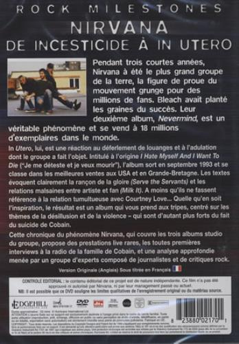 Nirvana (US) Rock Milestones: De Incestecide A In Utero DVD French NIRDDRO397021