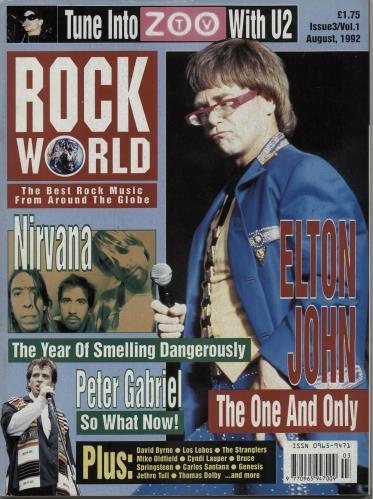 Nirvana (US) Rock World - August 1992 magazine UK NIRMARO643870