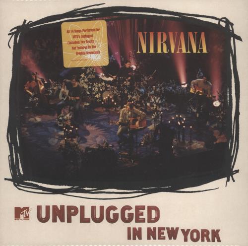 Nirvana (US) Unplugged In New York - White Vinyl - stickered p/s vinyl LP album (LP record) German NIRLPUN775277