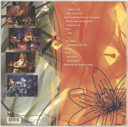 Nirvana Us Unplugged In New York White Vinyl German