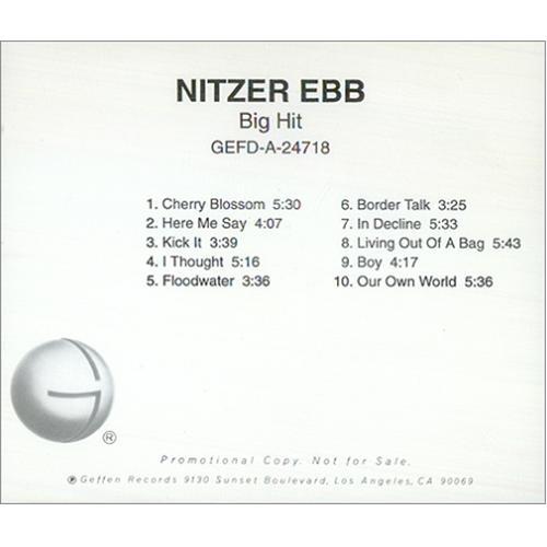 Nitzer Ebb Big Hit CD album (CDLP) US EBBCDBI72691