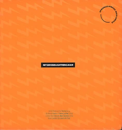 "Nitzer Ebb Lightning Man / Shame - Gold Stamp 12"" vinyl single (12 inch record / Maxi-single) US EBB12LI07306"