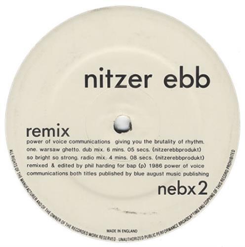 "Nitzer Ebb Warsaw Ghetto Remixes 12"" vinyl single (12 inch record / Maxi-single) UK EBB12WA02938"
