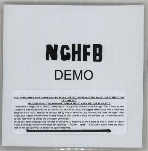 Noel Gallagher Freaky Teeth [Demo] CD-R acetate UK NGLCRFR576704
