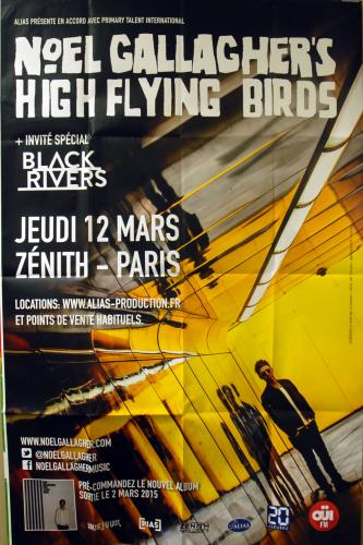 Noel Gallagher Le Zenith - Paris 2015 poster French NGLPOLE649137