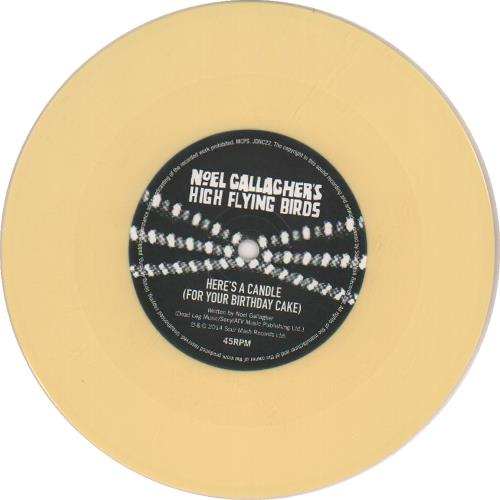 "Noel Gallagher Lock All The Doors - Yellow Vinyl 7"" vinyl single (7 inch record) UK NGL07LO644429"