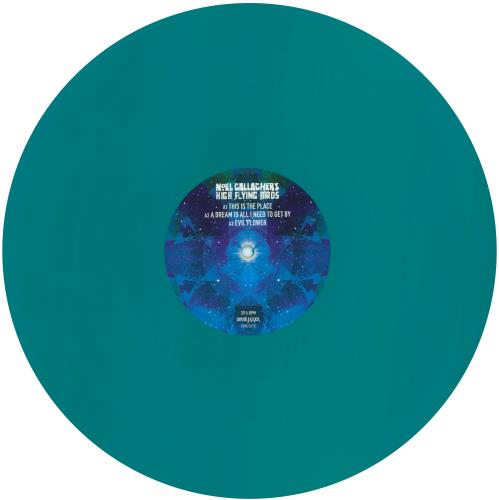 """Noel Gallagher This Is The Place - Turquoise Vinyl - Sealed 12"""" vinyl single (12 inch record / Maxi-single) UK NGL12TH730593"""