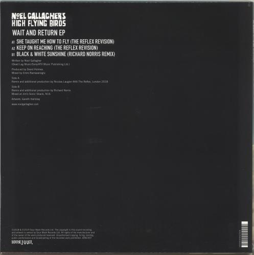"Noel Gallagher Wait And Return EP - RSD19 - Teal Vinyl - Sealed 12"" vinyl single (12 inch record / Maxi-single) UK NGL12WA718433"