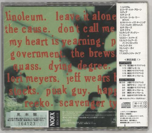 NoFX Punk In Drublic CD album (CDLP) Japanese NFXCDPU706805