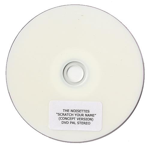 Noisettes Scratch Your Name - Concept Version promo DVD-R UK NO5DRSC479079