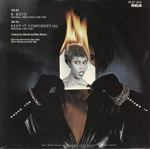 "Nona Hendryx B-Boys 12"" vinyl single (12 inch record / Maxi-single) UK NOH12BB724127"